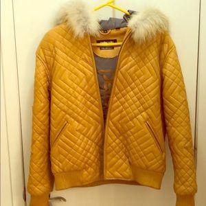 2005 Pelle Pelle Honey Gold Rabbit fur coat